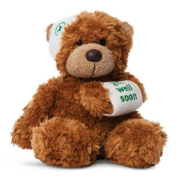Aurora Bonnie Get Well Soon Bear Cuddly Soft Toy Teddy